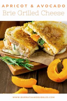 Full of melty, gooey goodness, this Parmesan-crusted Brie grilled cheese with apricot, avocado and fresh herbs is just what you need in your life. #grilledcheese #brierecipes #bestgrilledcheese #briegrilledcheese #avocadogrilledcheese #apricotgrilledcheese Grilled Cheese With Tomato, Grilled Cheese Avocado, Best Grilled Cheese, Vegan Grilling, Grilling Recipes, Hawaiian Bread Rolls, Dinner Party Recipes, Lunch Recipes, Summer Recipes