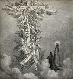 """Gustave Doré - Illustration de """"La Divine Comédie"""" de Dante Alighieri - Le Paradis, Chant 14."""