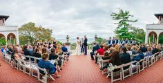 Beautiful ceremony at the Villa Terrace/ Floral by Bank of Memories & Flowers