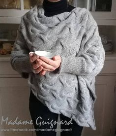 Poncho Knitting Patterns, Cable Needle, Needles Sizes, Handmade Clothes, Pullover, Trending Outfits, Dimensions, Pdf, Etsy