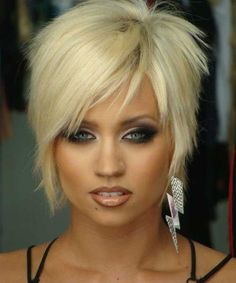 Hottest Platinum Blonde Short Edgy Haircuts for Women
