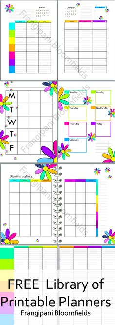 Free Student Planners  Themes To Choose From  Frugal