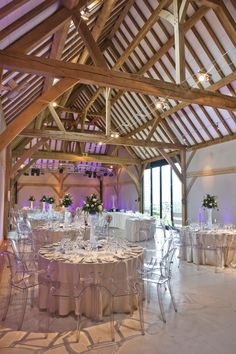 Amazing Philippe Starck chairs at Redhouse Barn wedding venue in Worcestershire | www.pwilletts.com