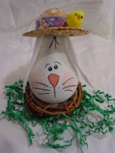 Over at Beth Watson Design Studio there is a great idea (literal light bulb going off!) on how to make a recycled light bulb Easter bunny. Bunny Crafts, Cute Crafts, Easter Crafts, Diy Crafts, Easter Decor, Easter Ideas, Recycled Light Bulbs, Painted Light Bulbs, Light Bulb Art