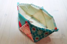 Patchwork Quilted Zipper Purse. Tutorial DIY in Pictures.