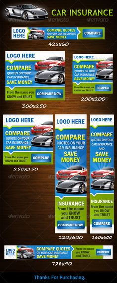 Car Insurance Web Banners Template PSD | Buy and Download: http://graphicriver.net/item/car-insurance/3537050?WT.ac=category_thumb&WT.z_author=Candy30&ref=ksioks