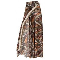 """SKIRT,MAXI WRAP IN BROWN & BLACK PRINT WITH TASSELS  """"alexSANDra on the…"""