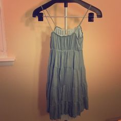 Super cute slip dress Light periwinkle spaghetti strap layered dress- got this in Italy on my last trip!! Dresses