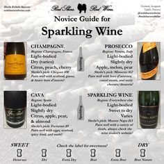 Do you know the difference between champagne, prosecco, cava, and sparkling wine? Here's a quick cheat sheet. Veuve Clicquot has become a wedding anniversary tradition for us. Cherry Apple, Chateauneuf Du Pape, Wine Education, Wine Guide, Wine Subscription, Wine Case, In Vino Veritas, Italian Wine, Sparkling Wine