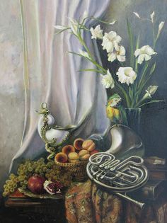 Still-life with the French horn Painting  - Tigran Ghuylan