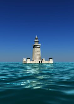 One of the Seven Wonders of the World...The Lighthouse of Alexandria, sometimes called the Pharos of Alexandria (in Ancient Greek, ὁ Φάρος της Ἀλεξανδρείας), was a lofty tower built by the Ptolemaic Kingdom between 280 and 247 BC on the coastal island of Pharos at Alexandria, Egypt for the purpose of guiding sailors into the port.