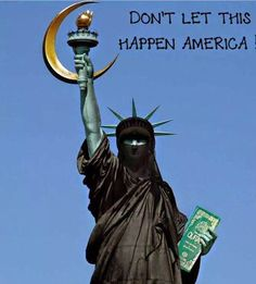 Lady Liberty defiled #sharialaw #islam