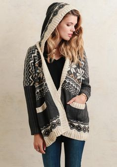 Around The Campfire Hooded Cardigan