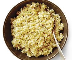 Orzo with Fontina, Lemon, and Herbs - Recipe - FineCooking