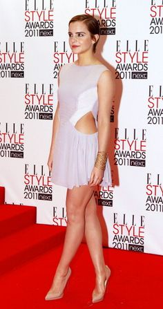 Emma Watson at the ELLE Style Awards in London wearing Hakaan. See all of the actress's best looks.