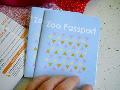 Zoo Passport - to check off the animals seen. Cute!