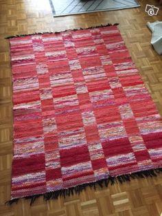 Punainen ruutu matto / räsymatto
