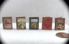 Dollhouse miniature readable books.