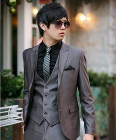 light grey wedding suits for men