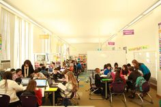 Meet The Classroom Of The Future A blended learning classroom at David Boody Jr. High School in New York City.