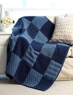Sampler Blanket in Bernat Super Value