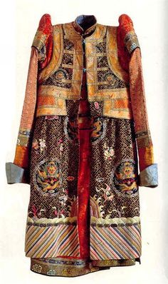 traditional Mongolian women coat WW - Loshari Ref