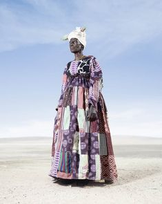 Hereros of Namibia added Victorian fashion into their traditional costume under German influence in the late 19th and early 20th century. photographer Jim Naughten