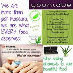 best thing about younique products is NO harsh chemicals!! Order on Www.so-younique.co.uk