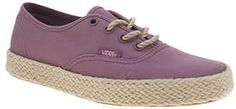 Womens grape vans pink authentic espadrille trainers from Schuh - £50 at ClothingByColour.com Summer Colors, Trainers, Espadrilles, Palette, Vans, Footwear, Colour, Sneakers, Accessories