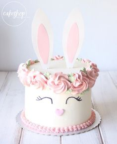 Impress all your Easter guests with this three-tiered carrot cake that's finished with pretty pastel cream cheese frosting. Bunny Birthday Cake, Easter Birthday Party, Easter Bunny Cake, Easter Cupcakes, Easter Treats, Bunny Cakes, Bunny Party, Girls 2nd Birthday Cake, Birthday Ideas