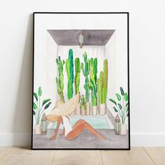 """Your home is """"your place,"""" and that's why decorating it to your liking is so important. You need to feel comfortable in your space! This artwork was created from my own original watercolor paintings. #moroccanriad #riad #pool #womaninpool #cactuawallart #botanicalart #bohodecor #modernart #figurativeart #womanart #summer #morocco #travelart #landscapewallart Dinning Room Wall Decor, Botanical Art, Figurative Art, Female Art, Boho Decor, Morocco, Watercolor Paintings, Modern Art, Wall Art Prints"""
