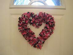 The Crafty PolkaDot: Valentine Rag Wreath Tutorial