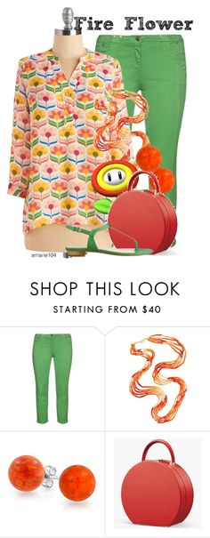 """""""Fire Flower"""" by amarie104 ❤ liked on Polyvore featuring aprico, Bling Jewelry and Nine West"""