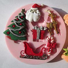 [XmasSale]Noel Ağacı Hediyelik Silikon Çikolata / Fondan / Şeker Kalıp – USD $ 11.29