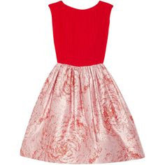 Alice + Olivia Kirie silk and metallic jacquard dress (3,930 MXN) ❤ liked on Polyvore featuring dresses, vestidos, short dresses, red, metallic dress, short red dress, red mini dress, red silk cocktail dress and red silk dress