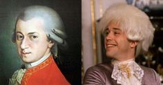 """Wolfgang Amadeus Mozart, brilliant musician and composer of the Classical Era. Tom Hulce in the film """"Amadeus""""."""