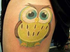 Cute Lemondrop Owl Tattoo