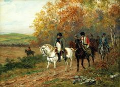 Raymond Desvarreux-Larpenteur (French, 1876-1961) - Napoleon and his generals in the field