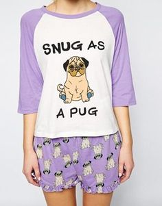 """Minkpink """"Snug As A Pug"""" Lounge Tee @brookswe  cutest PJs ever!"""
