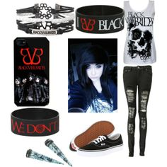 """Black veil brides"" by sierrafuentes on Polyvore"