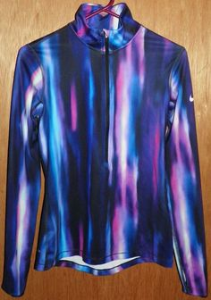 f480ddf5fc Nike Pro Dri Fit 1 2 Zip Athletic Pullover Jacket S Purple Blue Black White  Pink