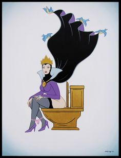 I do not think Maleficient would appreciate being caught with her panties down! She's going to curse me, I can tell! By Jose Rodolfo Loaiza Ontizeros, who has tons of these awesome re-interpretations of Disney characters.