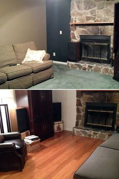 "Living Room DIY Design | ""We have lived with carpet for over 20 yrs. It was time for a change and boy did we...My wife and I did all the work ourselves - not hard at all...The whole house looks like new."" - Larry, NC"