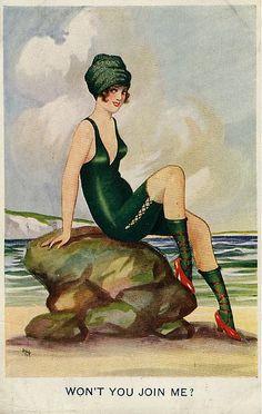 Seaside Postcard 1919 by FrankLong, via Flickr