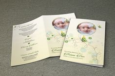 Funeral Program Template - V349 by Template Shop on Creative Market