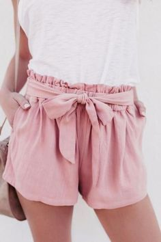 Summer Shorts Women Lady Sexy Shorts High Waist Casual Shorts With Bow Shorts Tr., Summer Outfits, Summer Shorts Women Lady Sexy Shorts High Waist Casual Shorts With Bow Shorts Trousers Source by kelsieschrenk. Sexy Shorts, Shorts Casual, Bow Shorts, Pink Shorts Outfit, Modest Shorts, Women Shorts, Color Shorts, Short Shorts, Cute Outfits With Shorts