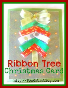 Ribbon Christmas Tree Card DIY Tutorial -