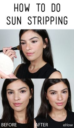 "After contouring and strobing, a new makeup trend called ""sun stripping"" is becoming the coolest new way to wear bronzer. It is very easy to do and results in a realistic bronzed look that anyone can wear beautifully. With just a little bronzer and a brush, you can look like you spent all day at the beach getting the loveliest healthy-looking tan!  http://www.ehow.com/how_12343271_sun-stripping.html?utm_source=pinterest.com&utm_medium=referral&utm_content=freestyle&utm_campaign=fanpage"