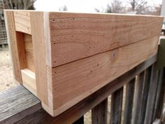 Western Red Cedar Herb Planter 24 / Deck by CreativeandRecycle
