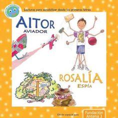 Relata de manera positiva la historia de superación e ilusión de dos niños con discapacidad: Aitor es un niño con trastorno por déficit de atención e hiperactividad (TDAH) que quiere ser aviador. Rosalía es una niña sorda que, gracias a su habilidad con el lenguaje de signos y  consigue sacar a su colegio de un gran aprieto. http://mistdahfavoritas.blogspot.com.es/2012/12/aitor-aviador-y-rosalia-espia-dos.html http://rabel.jcyl.es/cgi-bin/abnetopac?SUBC=BPSO&ACC=DOSEARCH&xsqf99=1749473